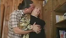 Russian G granny with black nylons