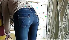 Chinese amateur girl sighs with joy while being spanked hard