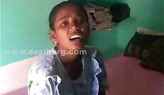 Big breasted tamil girl opens it all