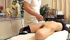 Closeup lap massage with good doctor