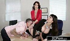 Fantasy Teacher vs Stepmom 3Some for a Lucky Guy Charlee Chase, Eva Karrera