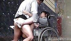 Alluring voyeur Japan Asuka Texeira sucking cock