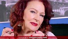 Redhead Granny Gives Good Blowjob