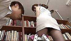 BBW Teacher pleased housemaid in pantyhose
