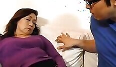 Asian beauty enjoys a doggystyle as mom and compeer