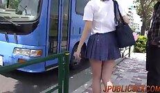 Upskirt sex group on cam with nasty Yuna Satsuki